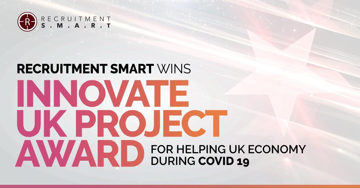 Recruitment Smart wins Innovate UK  Project award for helping UK economy during Covid 19